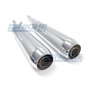 BMW R-Models 70-84 Whispertone Motorcycle Mufflers Reverse Cone Chrome  105627