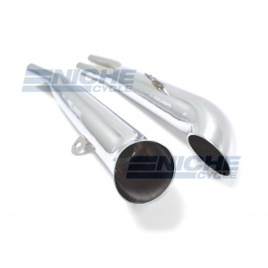 Kawasaki KZ900 Performance Exhaust Motorcycle Mufflers Turnout Chrome  002-0410