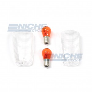 Yamaha Turn Signal Lense w/Bulbs 59-19540