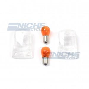 Suzuki Turn Signal Lense w/Bulbs 59-21441