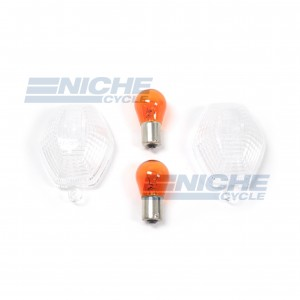Suzuki Turn Signal Lense w/Bulbs 59-21440