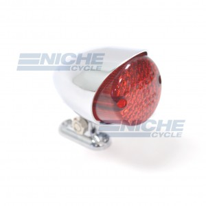 Custom Mini Retro Hooded Taillight - Chrome 62-21660