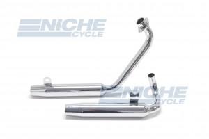 Yamaha Virago XV 500 MAC 2-Into-2 Chrome Taper Exhaust System 004-0821