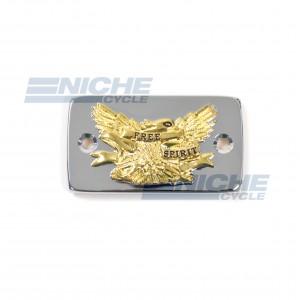 Suzuki VS800/1400 Intruder Chrome & Gold Master Cylinder Reservoir Cap 58-94561