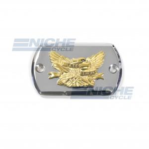 Yamaha XVS650 Chrome & Gold Master Cylinder Reservoir Cap 58-94523