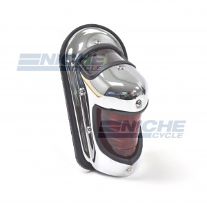 Beehive Fender Mounted Taillight Chrome 62-21610