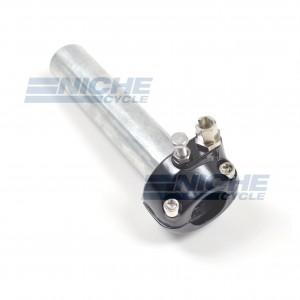 "7/8"" Single Pull Black Throttle Assembly 44-29470B"