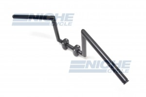 "Handlebar - Z Bars 10"" Rise Satin Black 07-93430S"