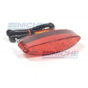 Universal LED oval Taillight - Red Lens 62-21650R