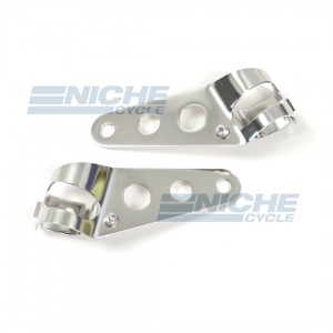 Headlight Brackets - Universal Stainless 66-35801