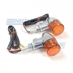 Aluminum Body Dual Filament Winker Set - Polished/Amber 61-66103