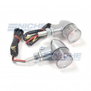 Aluminum Body Dual Filament Winker Set - Polished/Clear 61-66102