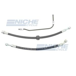 Honda CB400F 75-76 Front Disc Brake Line Hose Kit NCS-HHK002