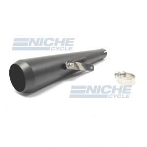 Reverse Cone Megaphone Can Black Stainless Steel - No Baffle  NCS-4029-BS