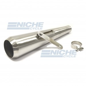 Reverse Cone Megaphone Can Bushed Stainless Steel - No Baffle  NCS-4029-SS