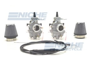 Honda CB350/CL350/CB360 Mikuni VM28 28mm Round Slide Carburetor Kit NCS245