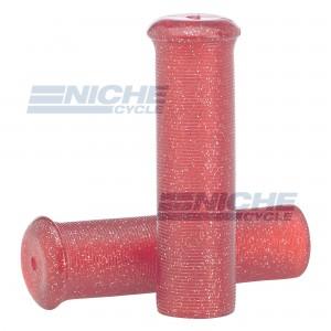 """Grip Set - Metal Flake 7/8""""x120mm -  Red 42-21124"""