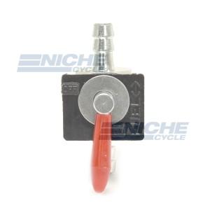 Inline Red Handle Fuel Valve - 8mm 43-17148