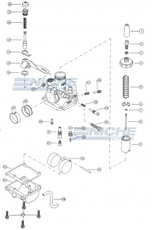 Mikuni VM18-144 Exploded View - Replacement Parts Listing VM18-144_parts_list