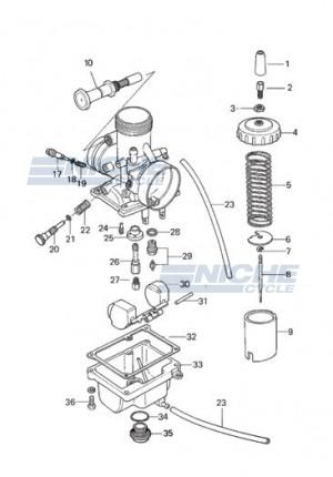 Mikuni VM26-606 Exploded View - Replacement Parts Listing VM26-606_parts_list