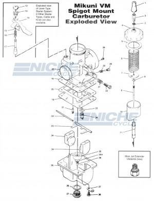 Mikuni VM26-8074 Exploded View - Replacement Parts Listing VM26-8074_parts_list