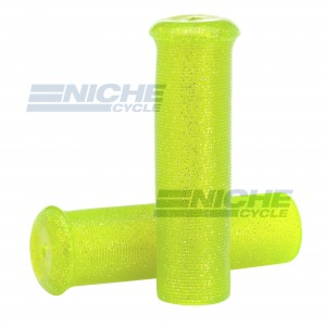 "Grip Set - Metal Flake 7/8""x120mm -  Yellow/Green 42-21125"